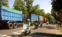 Kapolres : Ganggu Pemudik, Truk Pasir Membandel Beroperasi Saat Lebaran Dipastikan di Tilang