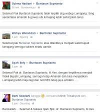 Terpilih Jadi Wabup, Akun Facebook Buntaran Diserbu Ucapan Selamat