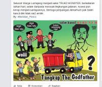 Kreatif...!!! Karikatur Kritiks Soal Tambang Pasir di Lumajang Ramai di Medsos
