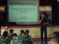 Sebelum Bertugas ke Kalimantan, Polres Lumajang Beri Pembekalan Prajurit Batalion 527