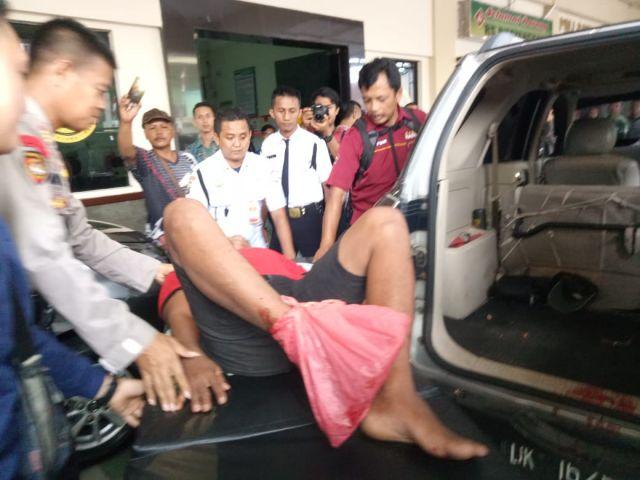 Door...! 2 Begal Motor Sawah  Lumajang Timur Terkapar UGD Bhayangkara