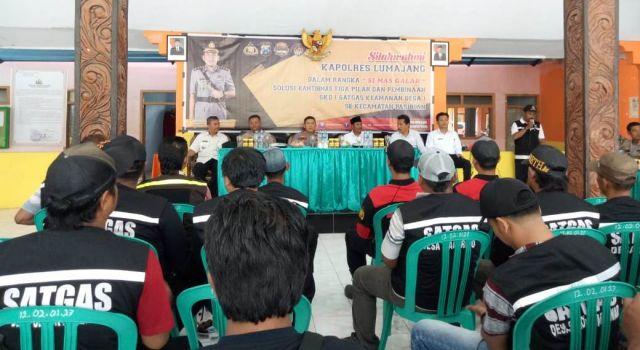 Marak Curwan..! Kapolres Lumajang AKBP Adewira Bina SKD se Pasirian