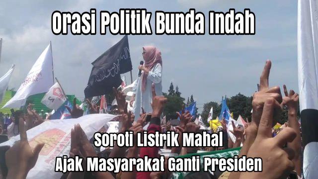 Video : Orasi Politik Bunda Indah Lumajang Ganti Presiden