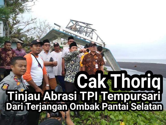 Video : Cak Thoriq Tinjau Dampak Abrasi TPI Tempursari