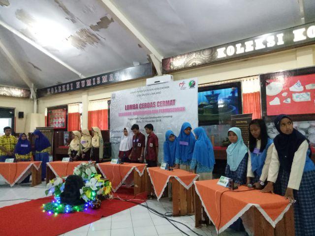 Disparbud Bersama MGMP IPS Gelar Lomba Cerdas Cermat Tingkat SMP di Museum Lumajang
