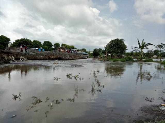 Ratusan Hektar Lahan Pertanian Terendam Luapan Sungai Kaliasem
