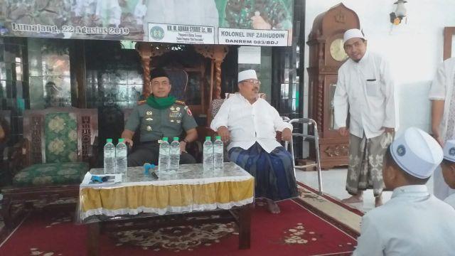 Danrem 083 Malang Silaturahim ke Ponpes Kyai Syarifuddin Lumajang