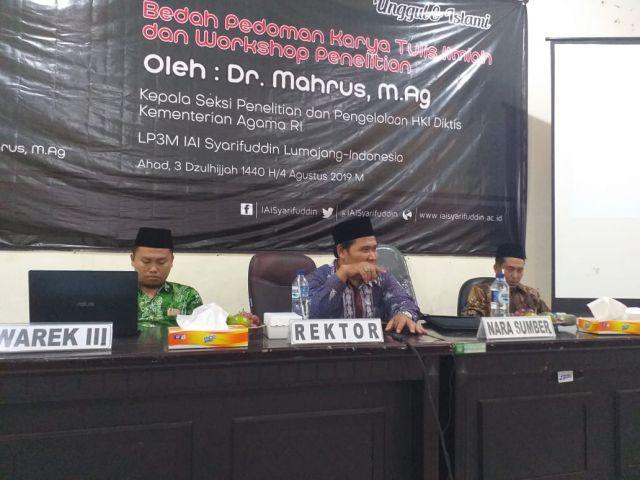Kemenag Ajak Dosen IAI Syarifuddin  Bersaing Dapatkan Hibah Penelitian