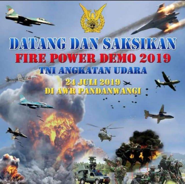 Ribuan Rakyat Lumajang Jadi Saksi Latihan Perang TNI AU Rabu Besok