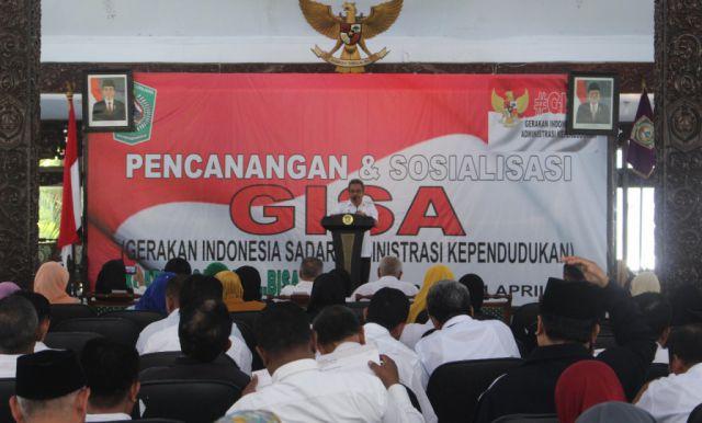 Canangkan GISA, Menuju Masyarakat Lumajang Tertib Administrasi Kependudukan