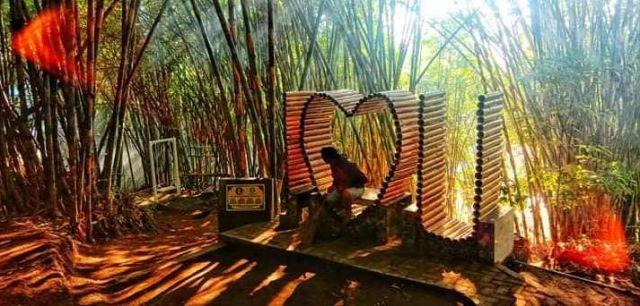 Ada Spot Selfie Wisatawan di Bukit Bambu Pemandian Tirtosari View  Lumajang