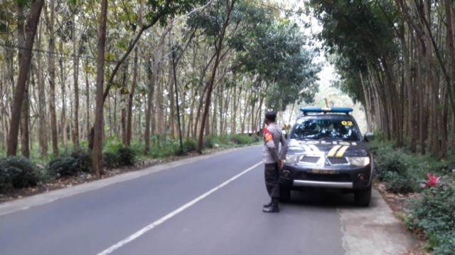 Polisi : Terkenal Mistis, Jalan Hutan Jatian Senduro Lumajang Aman