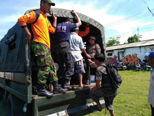 Rawan Bencana, BPBD Gladi Lapang Tsunami di Desa Wotgalih