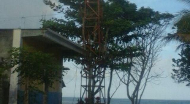 Speaker Menara Peringatan Dini Bencana Tsunami di TPI Tempursari Hilang