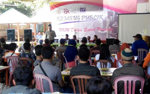 OJK Bersama H. M. Nur Purnamasidi Gelar Rembuk Publik Pedagang Pasar dan UKM