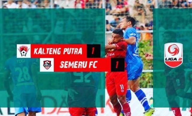 Bawa Pulang 1 Poin dari Kalteng, Semeru FC Peluang Lolos 8 Besar Liga 2