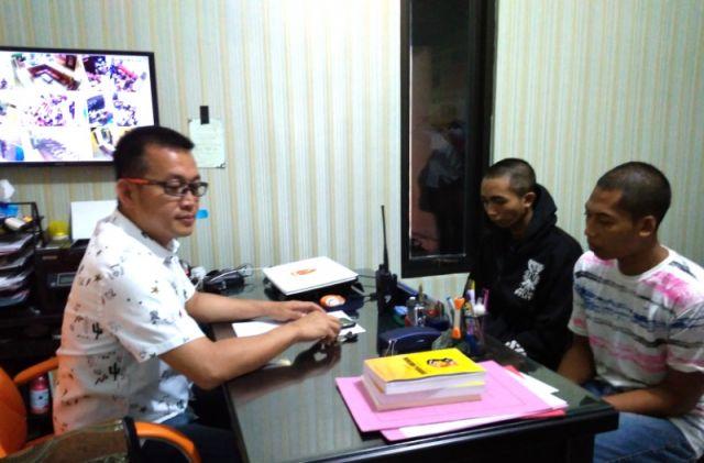 Viral di Medsos Terekam CCTV, 2 Maling HP Riris Cell Diringkus Polisi