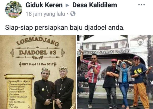 Warganet Mulai Promosi Loemadjang Djadoel, Siapkan Pakaian Mu dari Sekarang.. !