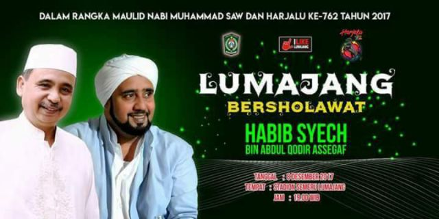 Besok, Lumajang Besholawat Bersama Habib Syech bin Abdul Qodir Assegaf