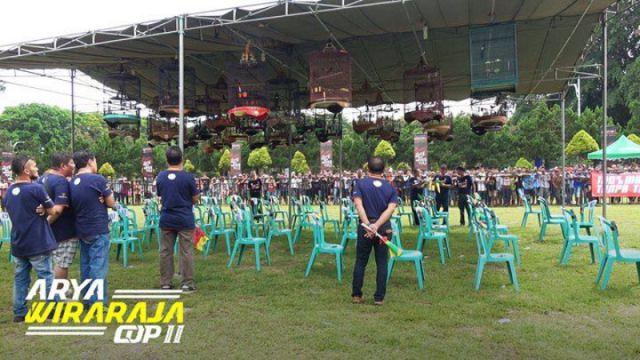 Ratusan Peserta Ikuti Lomba Burung Berkicau Arya Wiraraja Cup II