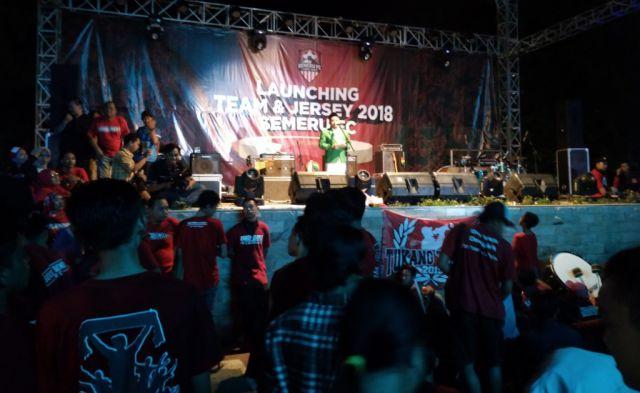 Ketua GP Ansor Pimpin Do'a Launching Team dan Jersey Semeru FC 2018