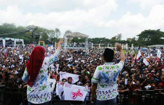 Dihibur Konser Dangdut, Kampanye Terbuka Thoriq-Indah Berlangsung Meriah