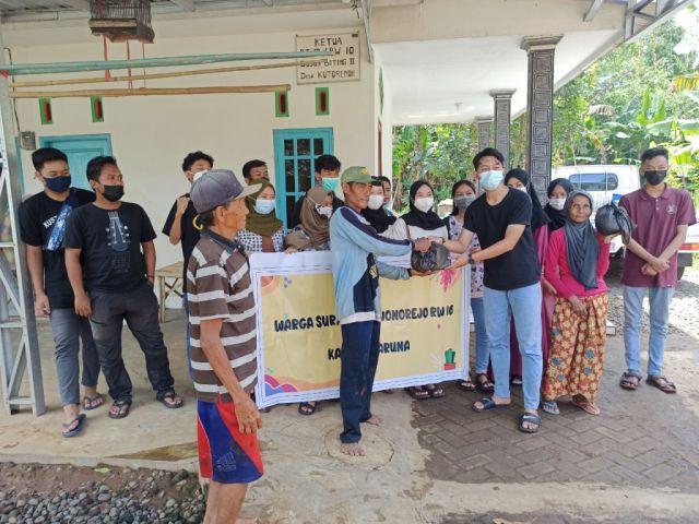 Karta Surya Asri Salurkan Sembako pada Korban Banjir Biting Lumajang