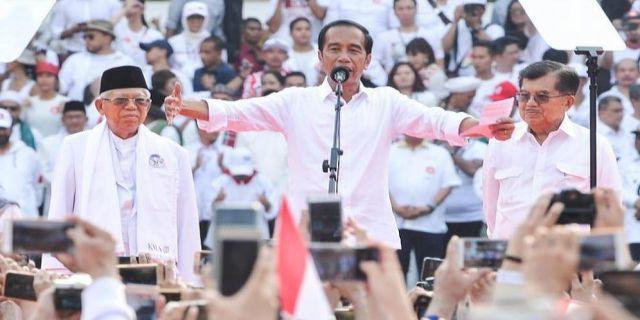 Jokowi - Amin Menang di 21 Provinsi Capai 55.50 Persen
