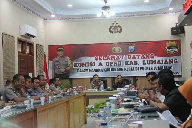 Kapolres Menerima Kunjungan Komisi A DPRD Lumajang