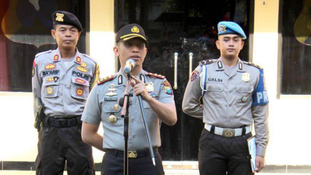 Kapolres Lumajang Minta Anggota Polri Waspada Terorisme dan Kejahatan Jalanan