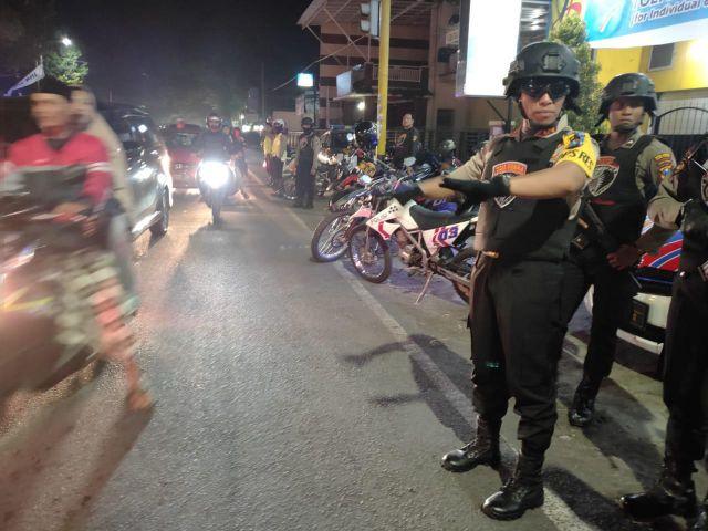 Malam Takbir Idul Fitri, Polres Lumajang Pantau Kawasan Rawan Kejahatan