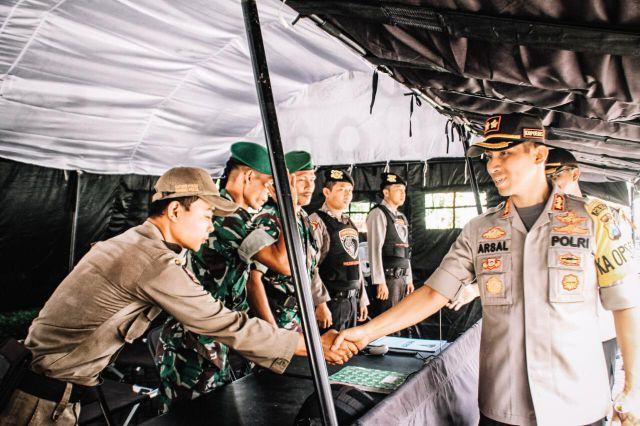 Kapolres Lumajang Cek Pengamanan KPU  Antisipasi People Power