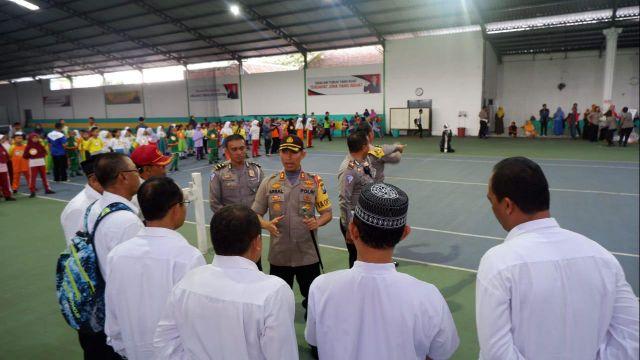 Kapolres Lumajang Pantau Langsung Ratusan Siswa Ikuti Seleksi Polisi Cilik