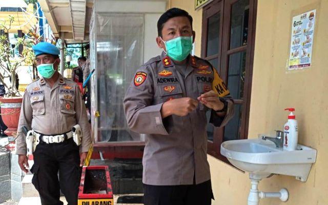 Ada Bilik Disinfektan di Polres Lumajang Bagi  Anggota dan Pengunjung