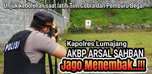 Video : Kapolres Lumajang Jago Menembak