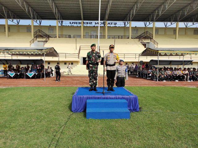 Kapolres dan Dandim 021 Lumajang Jadi Irup Kembar PAM Pemilu 2019