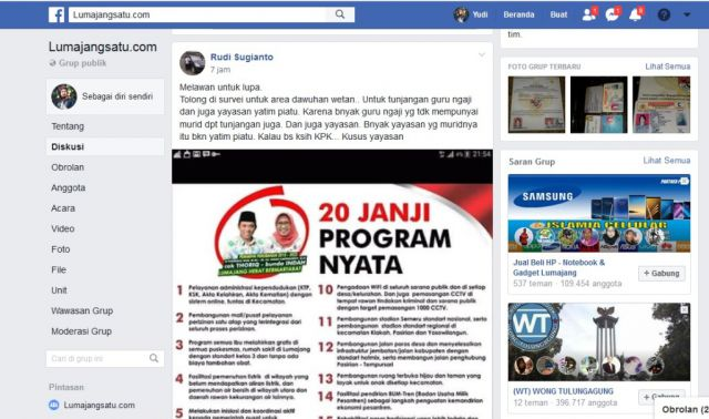 Ngadu Honor Guru Ngaji di Grup FB Lumajangsatu.com, Cak Thoriq Respon