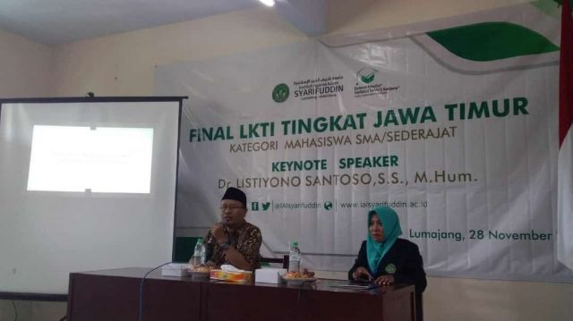 Dr. Listiyono Santoso Jadi Pembicara LKTI Jawa Timur IAI Syarifuddin