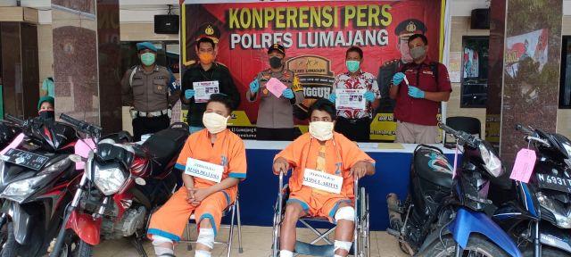 Door! 2 Pemuda Tongmaling Spesialis Curanmor Ditembak Polisi Lumajang
