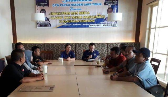 Nasdem Jawa Timur Silaturahmi dengan Insan Pers Lumajang