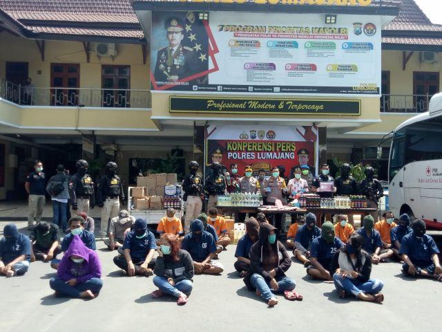 14 Hari Operasi Pekat Semeru, Polisi Lumajang Amankan Puluhan Orang