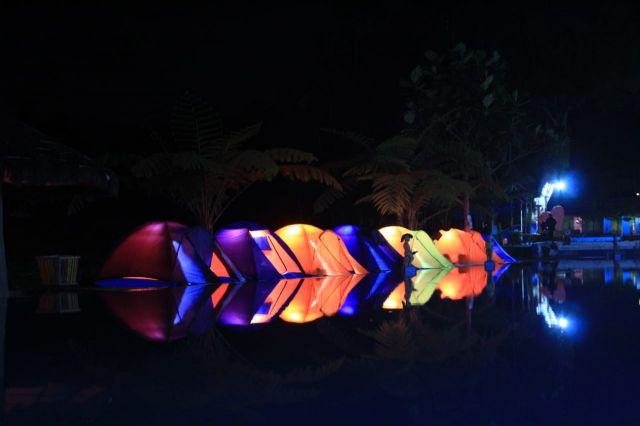Penampakan Tirtosari View Night Acara Outing Camp Perangkat Wonorejo