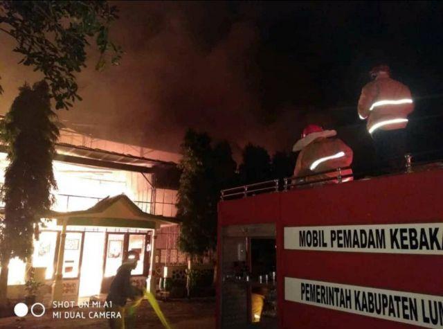 Pabrik Teh PTPN XII Ketrowono Gucialit Lumajang Terbakar Hebat