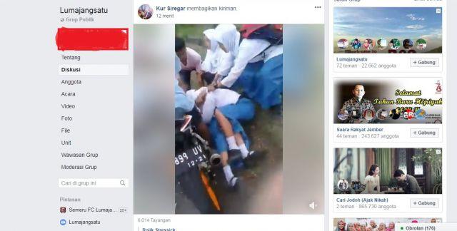 Viral, Video Pelajar Perempuan Berkelahi di Embong Kembar Lumajang
