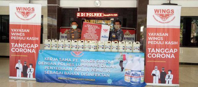 Polres Lumajang Terima Bantuan Pemutih Pakaian dari PT Wings Surya
