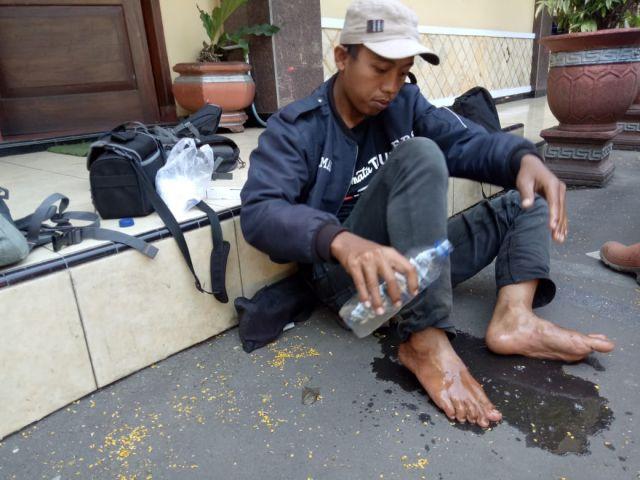 Wartawan Indosiar Nyaris Jadi Korban Kebakaran di Lereng Gunung Semeru