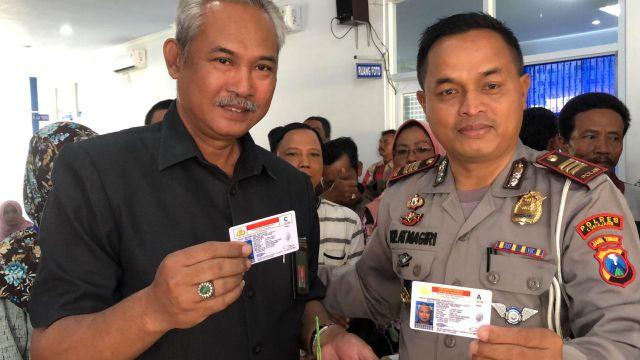 Satlantas Polres Lumajang Bagi-Bagi SIM Gratis di HUT Bhayangkara ke 73