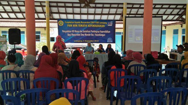 Mahasiswa STKIP PGRI Gandeng BKKBN Penyuluhan KB di Munder