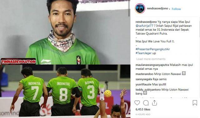 Presenter Pengangkut Air Pajang Foto Mas Ipul Atlet Lumajang