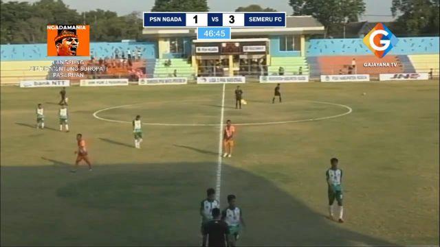 Babak I : Semeru FC Berondong Gawang PS Ngada 3 Gol